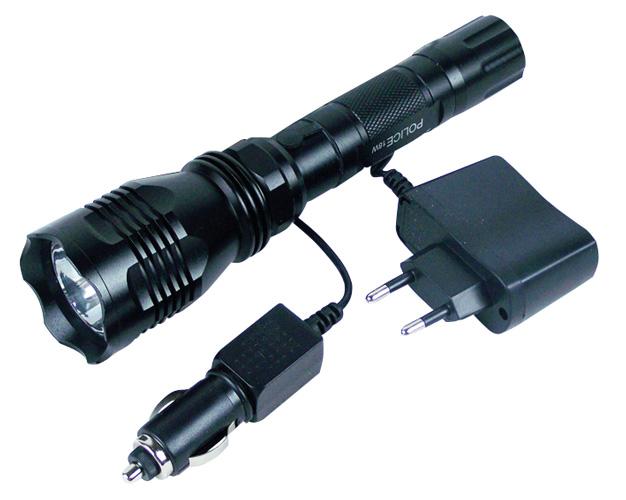 Jagdbedarf: Lampe - 18 W Cree LED Akku-Taschenlampe
